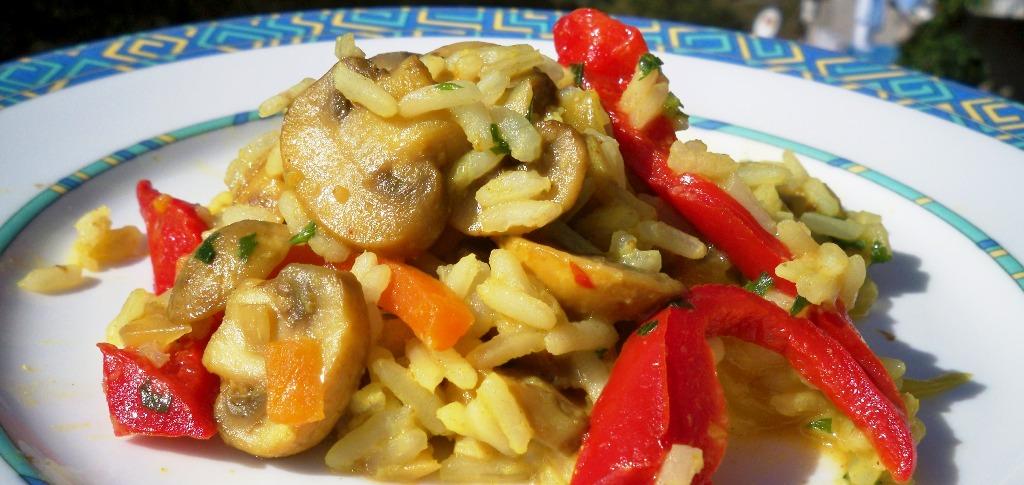 Riža s gljivama